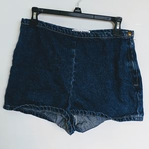 American Apparel Jean Shorts with side zipper